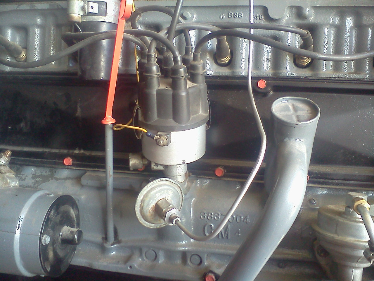 wiring a 58 chevy 235 on a picture of a 1964 chevy c10 fuse box